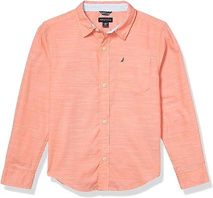 Nautica Slub Knit - Camiseta de manga larga para niño - Rosa ...