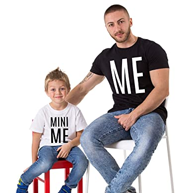 me mini me father son matching shirts amazon com