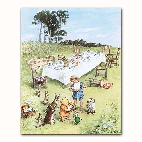 Amazon.com: Classic Winnie the Pooh Wall Art (Nursery Decor Boys ...