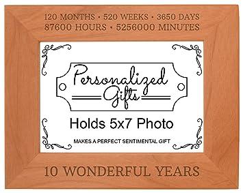10 Hochzeitstag Geschenk 10 Jahre Natur Holz Gravur