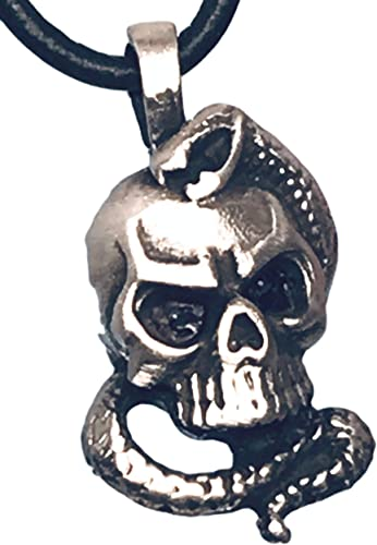 Skull Pendant Pewter Gothic Pendant