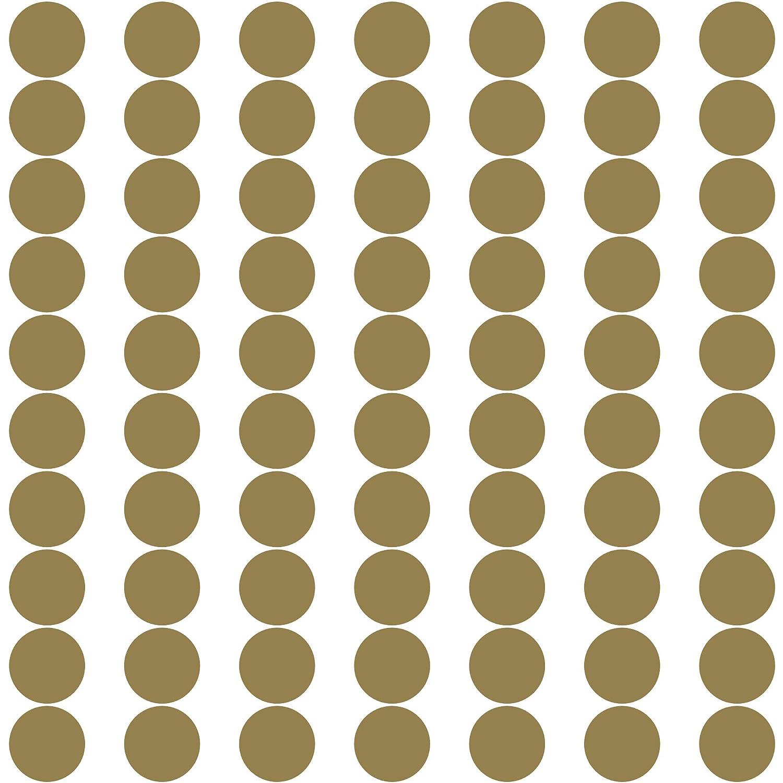 PREMYO 70 Punkte Wandsticker Kinderzimmer M/ädchen Jungen Wandaufkleber Selbstklebend Gold Wandtattoo