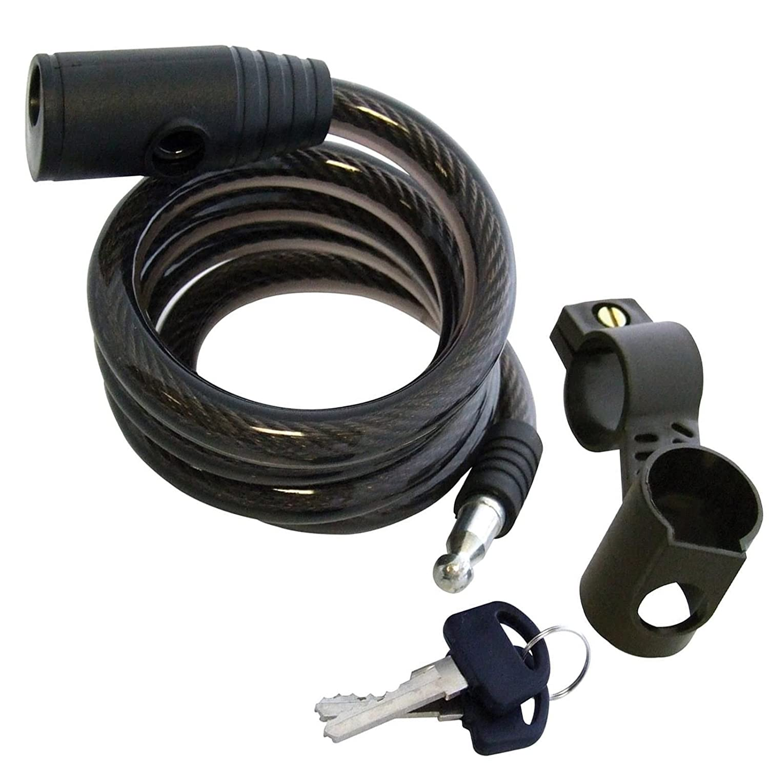 Tech Traders Bicycle Cable Bike Lock, Black, 120 cm x 1200 mm