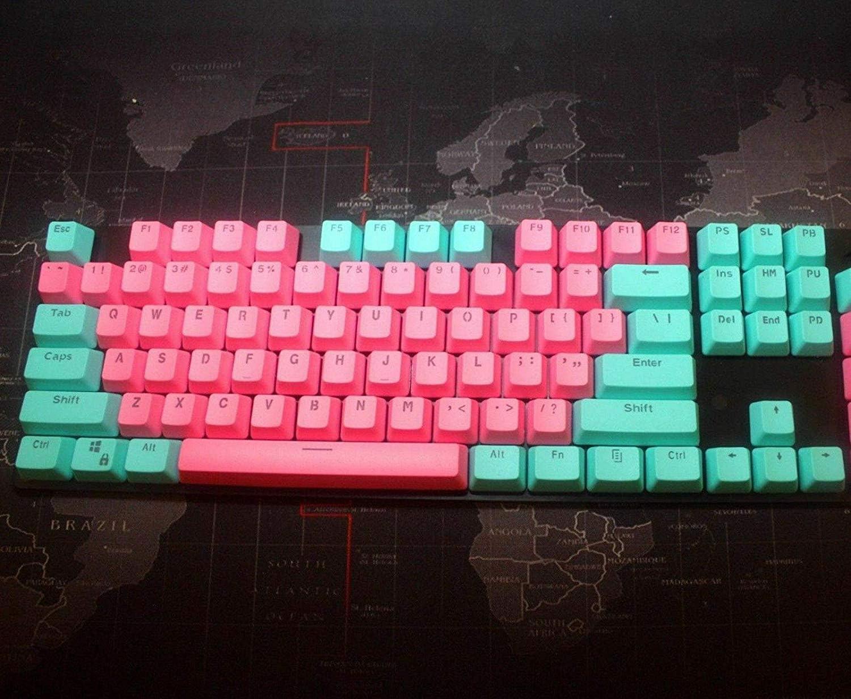 Alldecor 104//87/retroilluminato PBT Keycaps Doubleshot copritasti per Flico Cherry MX Cmxt Ducky Ikbc Gaming tastiera meccanica sostituire copritasti con chiave estrattore nero Queen