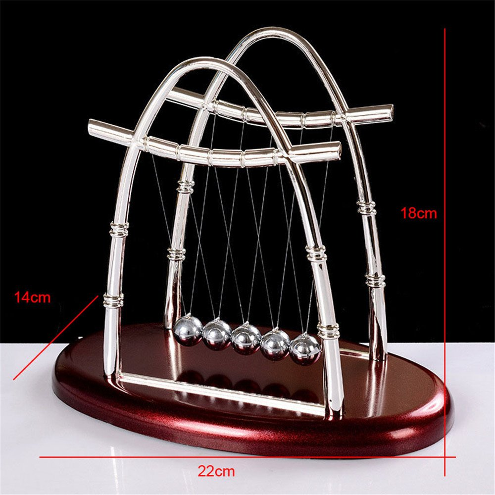 Ovovo Classic Newton\'s Cradle Balance Balls Physics Science Puzzle Desk Decor for Home& Office