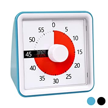 7 6CM Countdown Timer, 60 Minutes Visual Timer, Time Management Tool, 60  Timer, 1 Hour Timer, Exam Timer, Kitchen Timer, Silent Movement, for  Teaching
