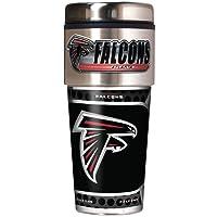 Great American Products NFL Vaso de Viaje metálico, Acero Inoxidable y Negro Vinilo, 453,59 G