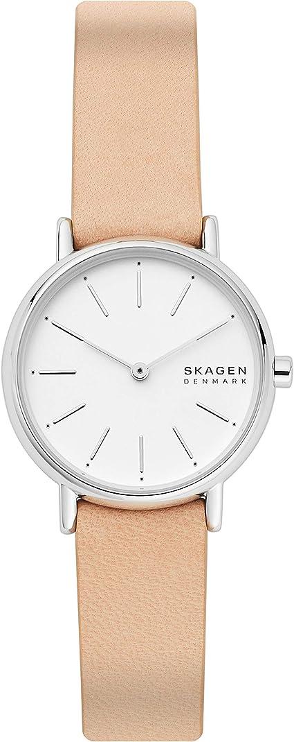 Skagen Reloj Analogico para Mujer de Cuarzo con Correa en Piel SKW2839