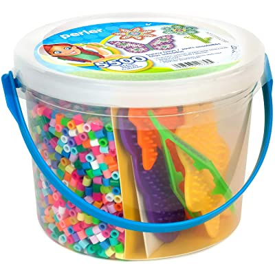 Perler Sunny Days Bright Color Fuse Bead Bucket, 5504 pcs: Arts, Crafts & Sewing [5Bkhe1102706]
