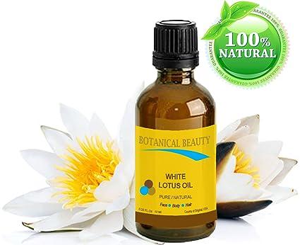 Blanco Lotus aceite natural – 10 ml. Para Cara Cuerpo y Cabello. Una
