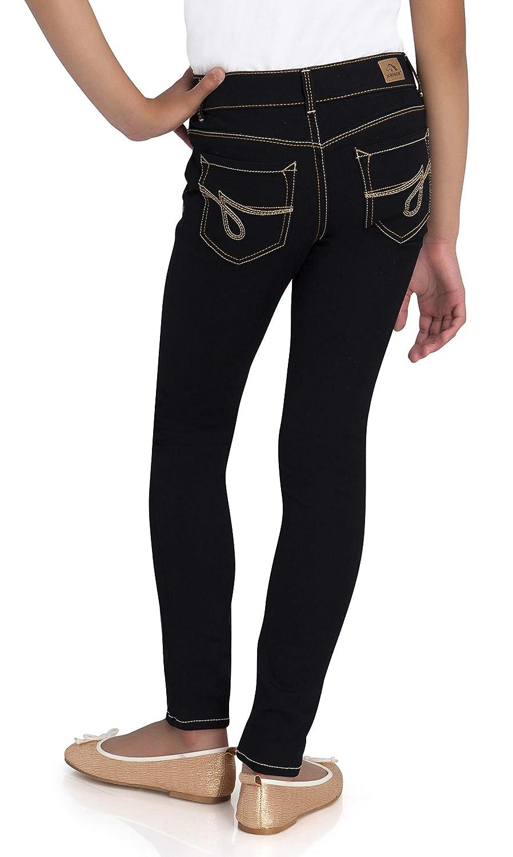 Jordache Girls Super Skinny Jeans with Concealed Adjustable Waist Rinse Wash, 16 Regular Fit