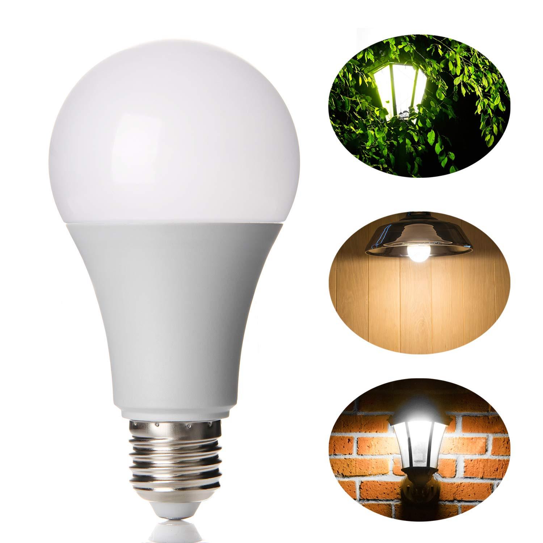 Lineway LED Glü hbirne mit Bewegungsmelder, 12W E27 Radarsensor Birne Weiß e (6000K) Smart Radarsensor Licht Energiesparlampe fü r Treppen Kellerabgang Haustü r Garten Garage