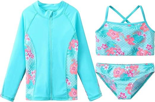 Boys Two Pieces Swimsuit Set UV Sun Protective Bathing Suit Swimwear Rash Guards Surfing Suit UPF 50+