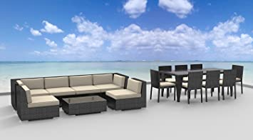 urban 16 piece outdoor dining and sofa sectional patio furniture set - Sectional Patio Furniture