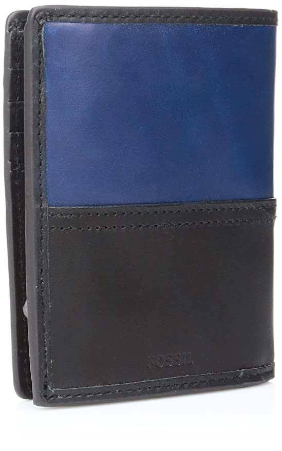 91989cc1f400 Fossil Men s Rfid Blocking Tate International Combi - Black  Amazon.com.mx   Ropa