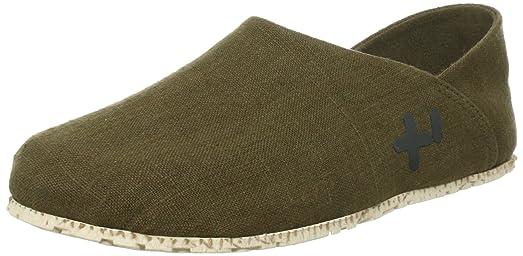 OTZ Shoes 300-GMS - Mocasines de lona para hombre Beige beige, color rosa, talla 36.5 EU (6.5 M US )