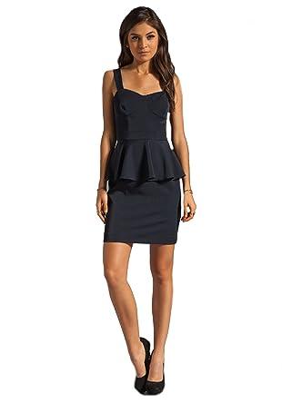 55b37667dd Image Unavailable. Image not available for. Color  SHOSHANNA Deanna Womens  Peplum Sleeveless Dress Sz 2 Navy 170504E