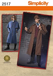 Simplicity Sewing Pattern 2517 Men's Costumes, AA (38-40-42-44)