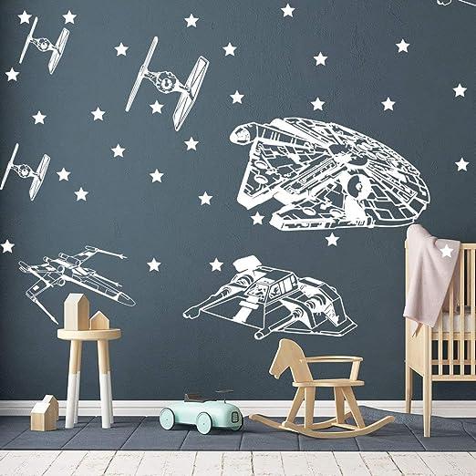 Death Star Wars Wall Stickers Kids Boy Room Living Room Home Decor Mural Art