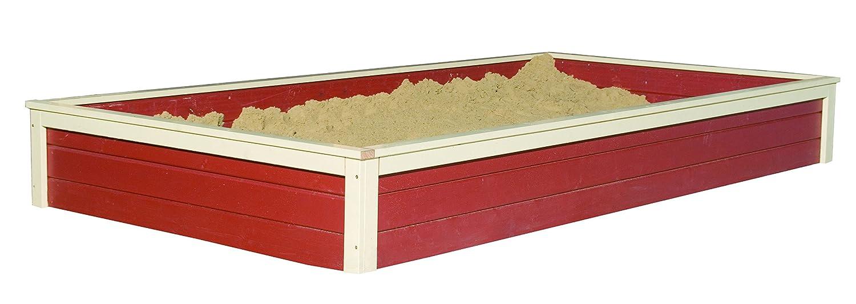 Karibu Sandkasten für Spielhaus Gernegroß rot