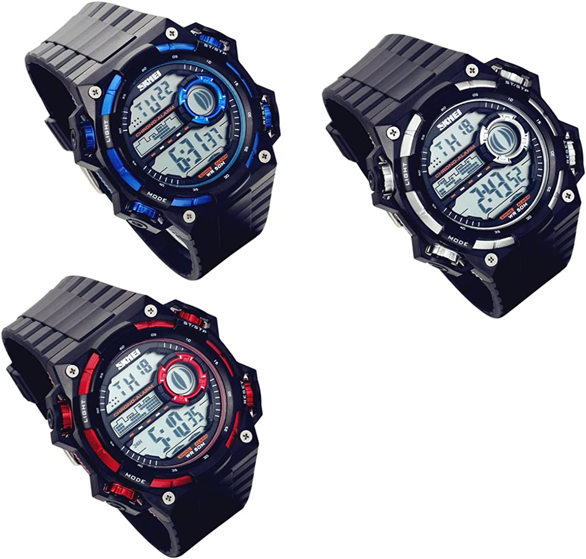 Lancardo 50M Waterproof Digital Muti-Function Sport Military Army Police Watch
