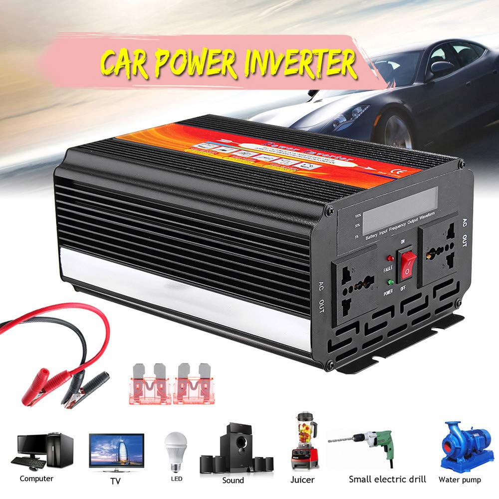 Alelife 8000W Car Power Inverter 12/24V to 110/220V Sine Wave Converter with Blade Fuses 2pcs Blade Fuses Overload Protection, Overheat Protection by Alelife (Image #6)
