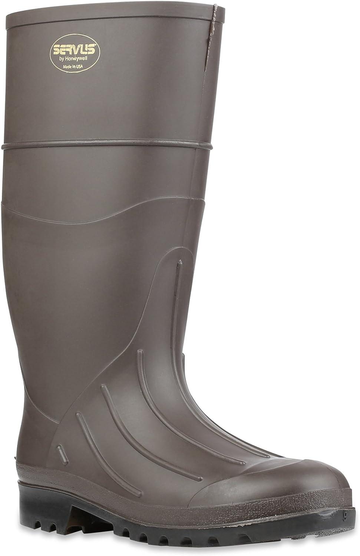 "Servus 15"" PVC Polyblend Soft Toe Men's Work Boots, Brown (18805)"
