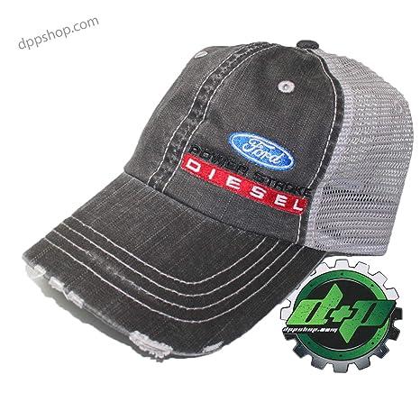 fa00ab88537 ford powerstroke diesel ball cap hat summer mesh back truck POWER STROKE  gear