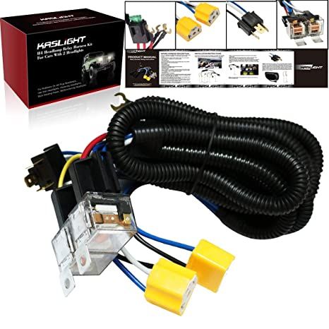 amazon com 1set 2 headlight harness h4 headlight relay harness rh amazon com Toyota Wire Harness Repair Kit Toyota Pickup Wiring Harness Diagram