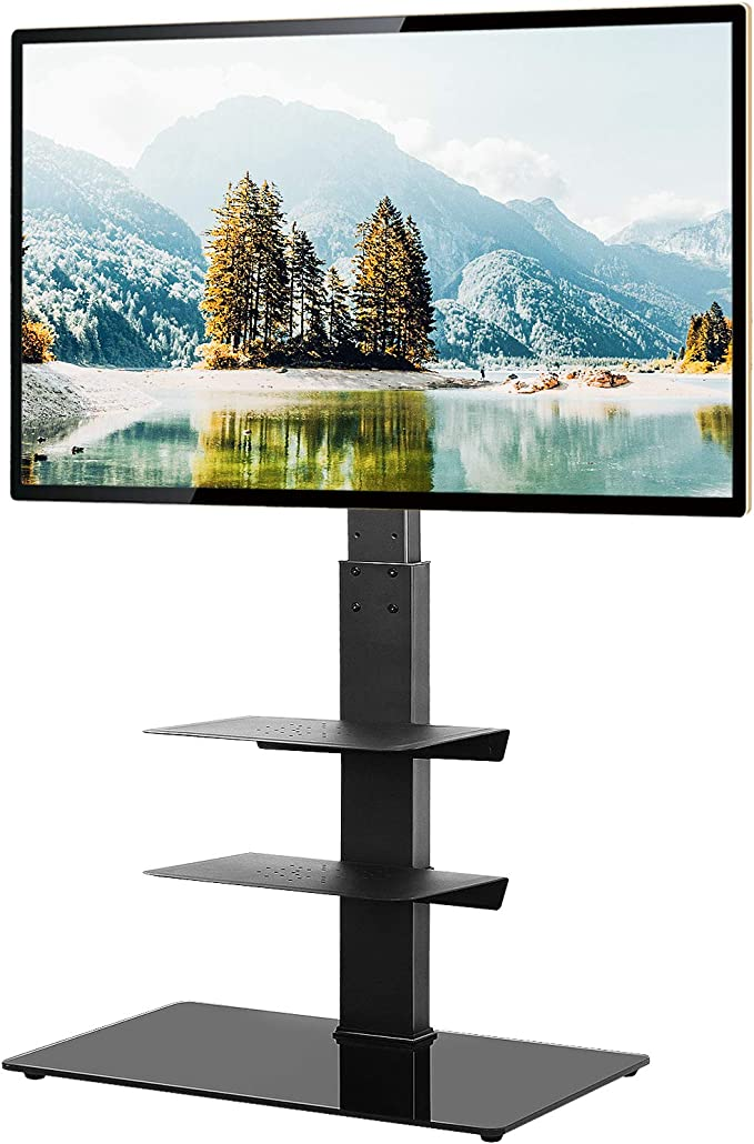 Floor TV Stand with Swivel Mount for 32-55 inch LCD LED OLED Flat Screen TV