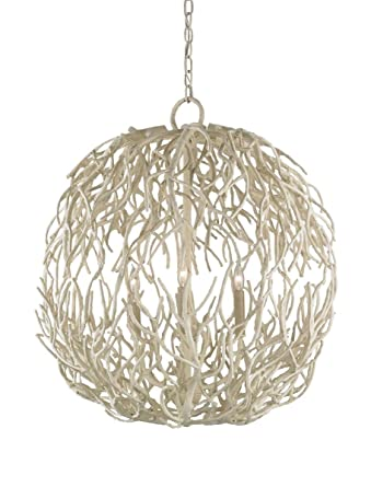 Currey and company 9501 eventide three light sphere chandelier currey and company 9501 eventide three light sphere chandelier white coral finish aloadofball Gallery