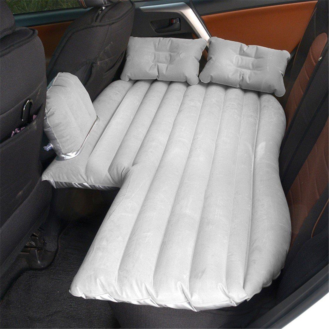 STAZSX Liegebett-Schlafenauflage-LimousineLuftkissen des Liegerad-Autos aufblasbare Bettautomatratzenreisebett-Kinder, grau-135x78CM