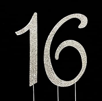 Amazoncom Number 16 for 16th Birthday or Anniversary Cake Topper