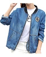 Denim Jacket Women NEW Large Size Long Sleeve Casual Casaco Feminino Plus Size Bomber Coats Chaquetas