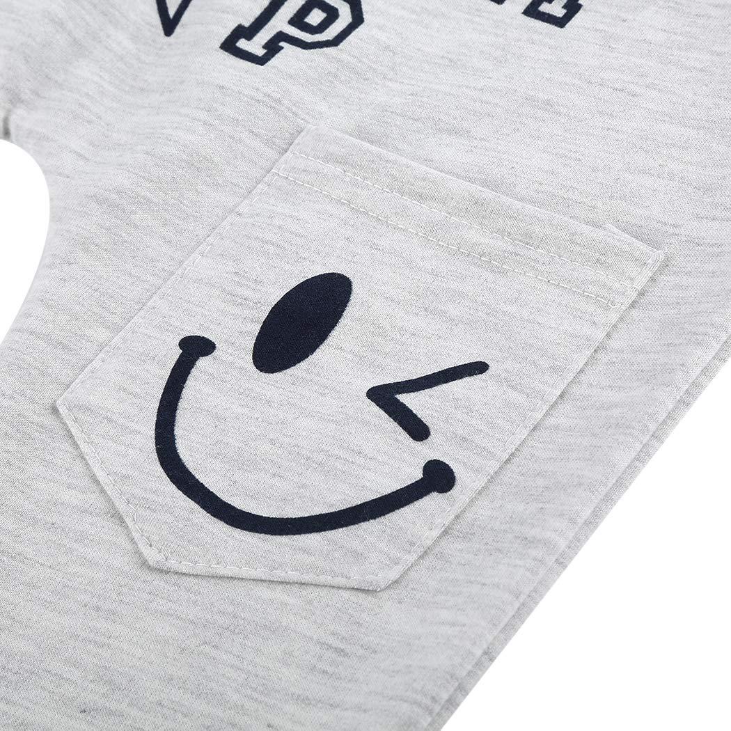 MIOIM Baby Boys Pants Harem Trousers Elastic Baggy Letter Printed Pants Leggings