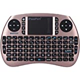 iPazzPort Wireless Mini Keyboard and Touchpad Mouse Combo for Raspberry Pi 3 / XBMC/Android and Google Smart TV Box KP-810-21S (Rose Gold)