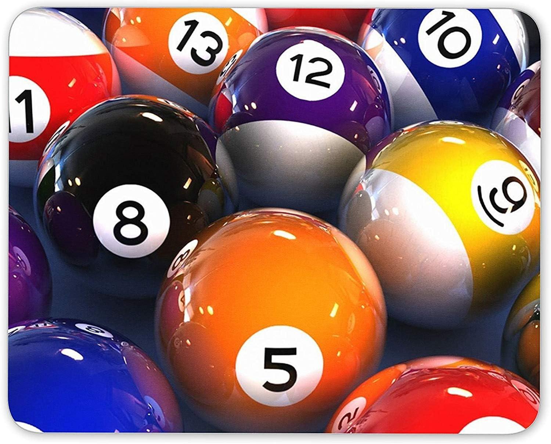 J5E7JYTE Funky Pool Balls Mouse Mat Pad - Lucky 8 Ball Snooker Pub Gift Computer #13156: Amazon.es: Hogar