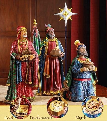 three kings original christmas gifts of gold frankincense myrrh deluxe figurine set - Gold Frankincense And Myrrh Christmas Gifts
