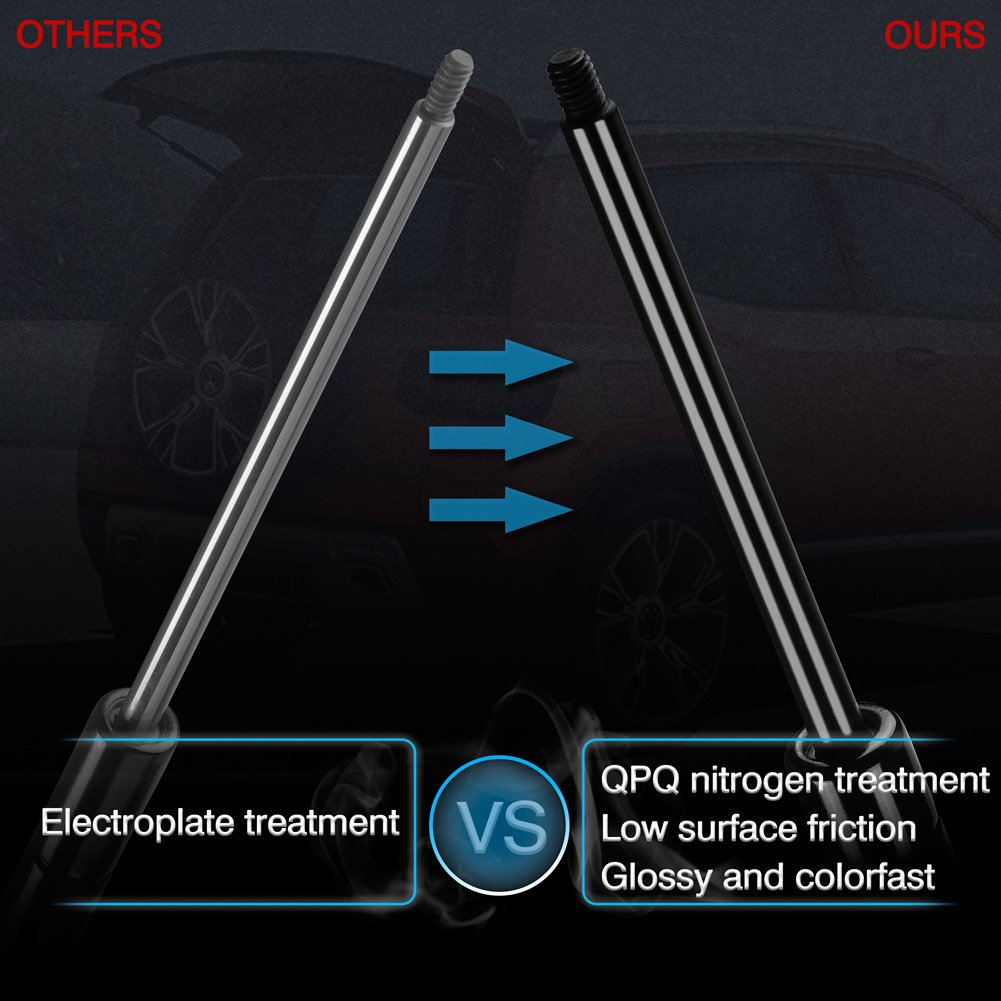 ARANA Qty 2 C16-08053 20 Universal Lift Supports//Gas Prop//Struts Force 80Lbs//356N Per Prop//Strut Gas Spring//Strut//Shock Compatible with Camper Rear Window//Tonneau Cover//Lid Stay//Bed