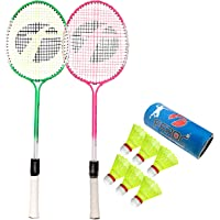 Feroc Swag Set of 2 Piece Badminton Racket with 6 Piece Nylon Shuttle
