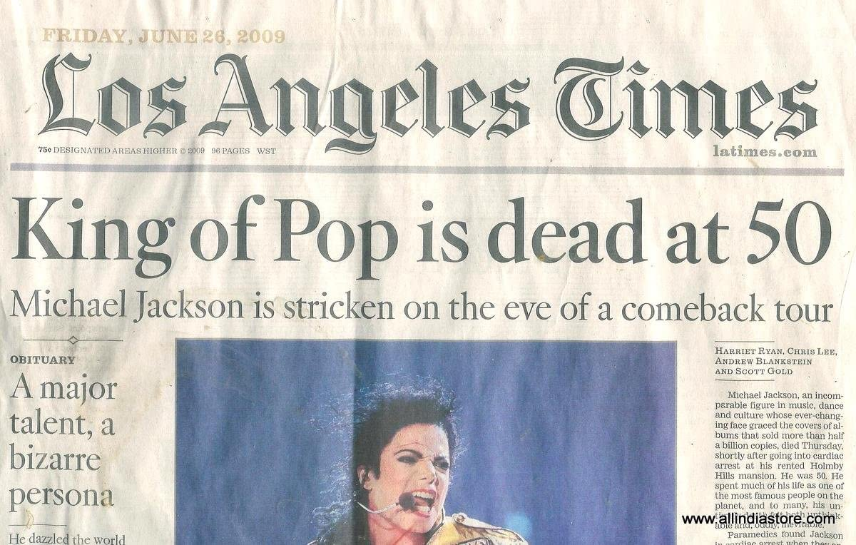 los angeles times obituary