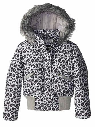 Amazon.com  Rothschild Girls Black Snow Leopard Fur Coat Animal ... aa6bb8ea4