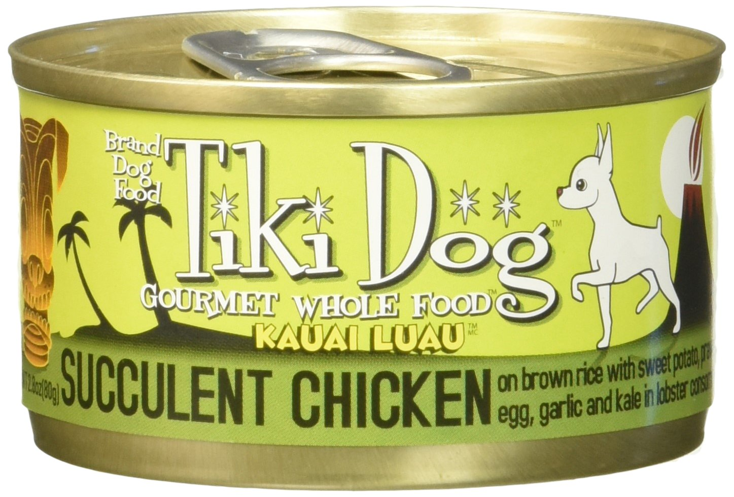 Tiki Dog Gourmet Whole Foods with Real Shredded Meat and Seafood with Kale & Brown Rice