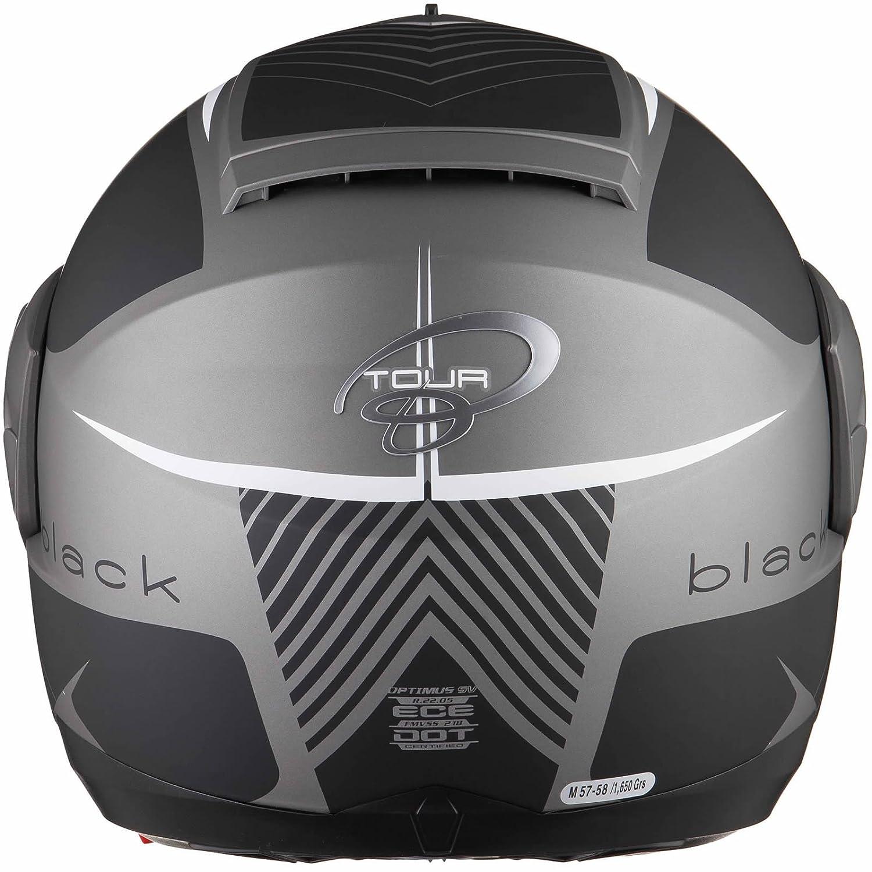 Black Optimus SV Tour Max Vision Flip Front Motorcycle Helmet