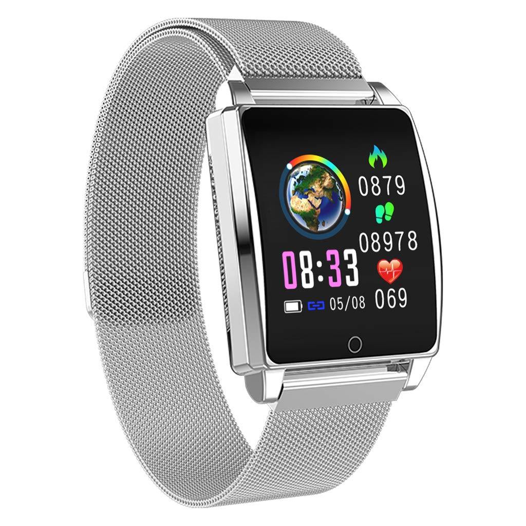 Bchance Activity Tracker Pedometer, Touch Screen Bluetooth Smartwatch for Women Men Compatible Android iOS, Fitness Tracker with Heart Rate Monitor Blood Pressure Monitor Smart Wristband Step Counter