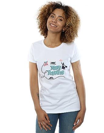 4ae38e45 Amazon.com: Disney Women's Mary Poppins Logo T-Shirt: Clothing