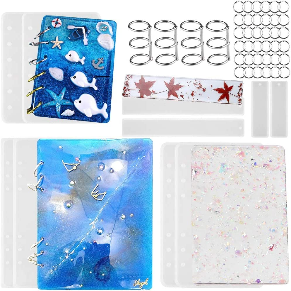 Notebook cover Silicone Mold Resin handmade DIY epoxy resin molds notebook making mold and pages personalized book cover