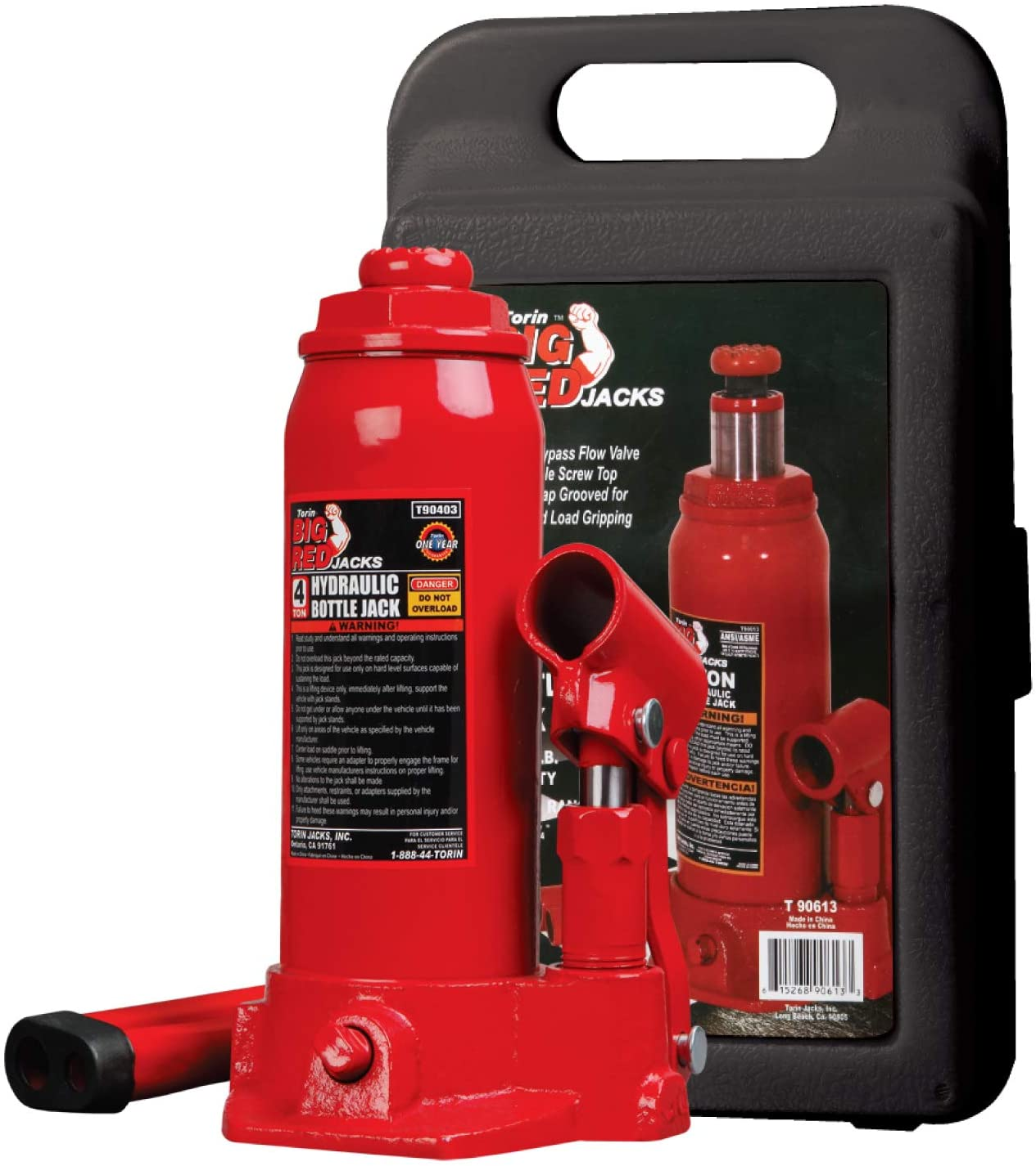 New 4 Ton Hydraulic Bottle Jack 8000lb Lift HEAVY DUTY Automotive