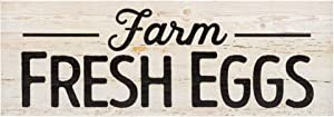 P. Graham Dunn Farm Fresh Eggs White Wash 15.75 x 5.5 Inch Solid Pine Wood Plank Wall Plaque Sign