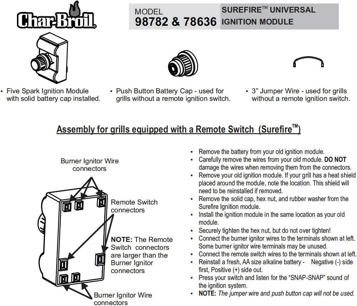 For Char Broil Grill Ignition Switch Wiring Diagram